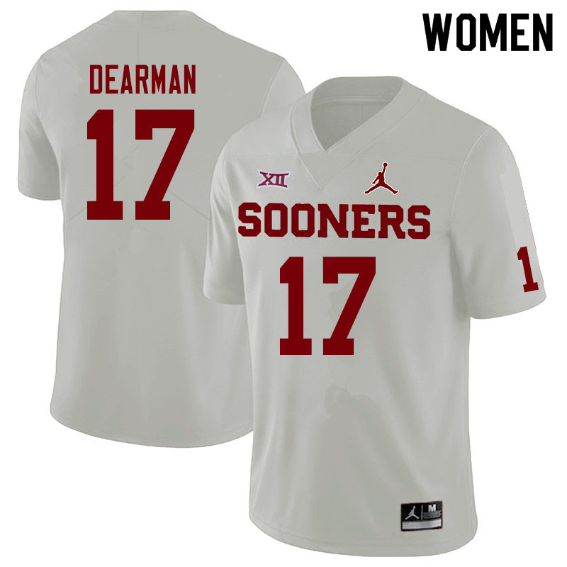 Jordan Brand Women #17 Ty DeArman Oklahoma Sooners College Football Jerseys Sale-White