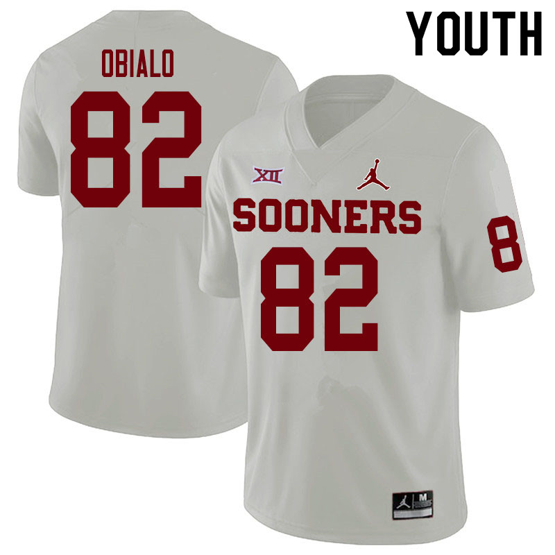 Youth #82 Obi Obialo Oklahoma Sooners College Football Jerseys Sale-White