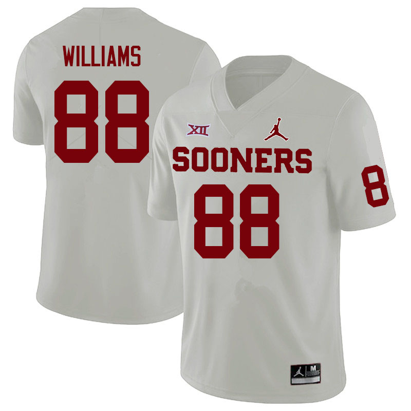 Youth #88 Greydon Williams Oklahoma Sooners College Football Jerseys Sale-White