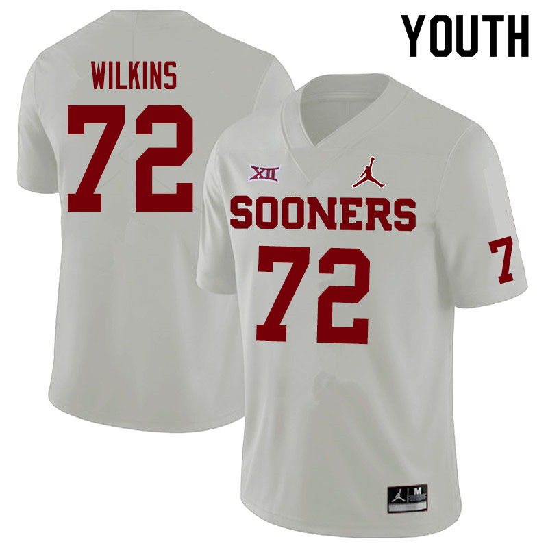 Jordan Brand Youth #72 Stacey Wilkins Oklahoma Sooners College Football Jerseys Sale-White